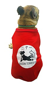 Dogs Sweatshirt Dog Clothes Character / British / Slogan Black / Red Cotton Costume For Pets Unisex Sweet Style / Casual / Daily
