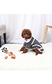 Dogs / Cats Jacket Dog Clothes Solid Colored Gray / Brown Cotton Fabric / Flannel Fabric / Cotton Costume For Pets Unisex Warm Ups / Minimalist