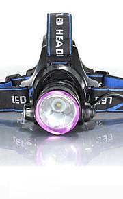 3Mode פנסי ראש / פנסי אופניים / פנס קדמי לאופניים LED 2000 lm 3 מצב תאורה עם סוללות ומטענים עמיד במים / עמיד לחבטות / נטענת מחנאות / צעידות / טיולי מערות / שימוש יומיומי / רכיבה על אופניים