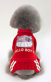 Dogs Sweatshirt Dog Clothes Simple / British Dark Blue / Red / Pink Cotton Costume For Pets Unisex Sweet Style / Warm Ups
