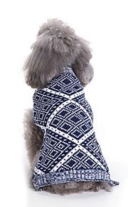 Dogs Sweater Dog Clothes Geometric / Yarn Dyed / Character Red / Blue Terylene Costume For Pets Unisex Casual / Daily / Simple Style