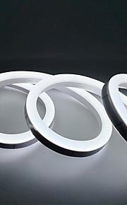 1m Strisce luminose LED flessibili 120 LED 2835 SMD Bianco caldo / Bianco / Giallo Impermeabile / Feste / Decorativo 220-240 V 1pc