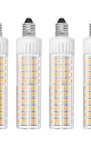 4 szt. 8.5 W 1105 lm E11 Żarówki LED kukurydza T 125 Koraliki LED SMD 2835 Przygaszanie Ciepła biel / Zimna biel 110 V