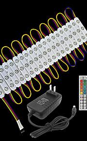 ZDM® 3.3m Tiras LED Rígidas / Sets de Luces 60 LED SMD5050 Controlador remoto de 1 44 teclas / 1 cable de CA / Adaptador de corriente 1 x 2A RGB Impermeable / Creativo / Fiesta 12 V / 120-240 V 1