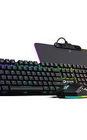 μηχανικός usb ενσύρματο πληκτρολόγιο ποντικιού combo οπίσθιο φωτισμό / φορητό μηχανικό πληκτρολόγιο μηχανικό / φωτεινό ποντίκι παιχνιδιών 3001-8000 dpi