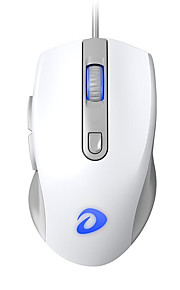 dareu lm107 ενσύρματο ποντίκι οπτικών παιχνιδιών πολλαπλών χρωμάτων με οπίσθιο φωτισμό 800/1200/2000/3200 dpi 4 ρυθμιζόμενα επίπεδα dpi 6 κουμπιά