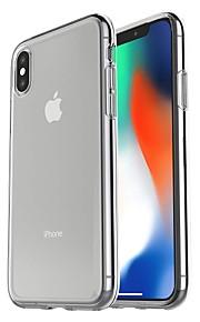 Кейс для Назначение Apple iPhone X / iPhone 8 / iPhone XS Max Защита от удара / Ультратонкий / Прозрачный Кейс на заднюю панель Прозрачный Мягкий пластик для iPhone XS Max / iPhone X / iPhone 8