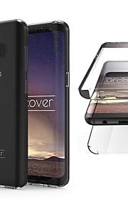 Кейс для Назначение SSamsung Galaxy S8 Защита от удара / Полупрозрачный Чехол Однотонный / Прозрачный Мягкий ТПУ для S8