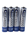 BTY 1000mAh Ni-MH Rechargeable AAA Batteries (4-Pack)