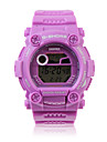 Waterproof Sporty Single Movement Digital Stop Automatic Watch with Night Light - Purple