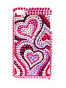 Premium Protective Back Case with Crystals for iPhone 4 (Red)