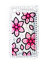 Protective Back Case with Crystals for iPhone 3G/3GS (Flower)