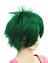 Women Synthetic Wig Straight Chocolate Green Costume Wig