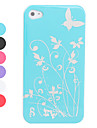 Protective Smooth Polycarbonate Front and Back Case for iPhone 4 and iPhone 4S (Butterfly, Assorted colors)