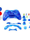 Replacement Transparent Style Housing Case for Xbox 360 Controller (Assorted Colors)