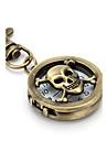Unisex Hollow Skull Heads Alloy Analog Quartz Keychain Watch (Bronze) Cool Watches Unique Watches