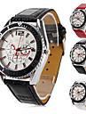 мужские Пу аналоговые кварцевые наручные часы (разных цветов)