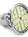 gu10 led spotlight mr16 24 smd 5050 280lm натуральный белый 6000k ac 85-265v