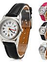 Women's Small Style PU Analog Quartz Wrist Watch (Assorted Colors)
