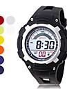 cronógrafo e água dos homens resistentes pu digitais relógios automáticos casuais (cores sortidas)