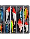 10 개 하드 베이트 루어 팩 낚시 미끼 하드 베이트 루어 팩 다양한 색상 g/온스 mm 인치,하드 플라스틱 바다 낚시 민물 낚시 베이스 낚시