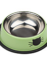 고양이 패턴 스테인레스 스타일의 애완 동물 그릇