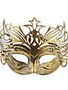 ハロウィーン仮装パーティーのためにヴィンテージの冠ハーフマスク