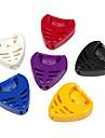 Alice - (A010B) Heart-Shape Plastic Picks Holder/6-Pack(Random Color)