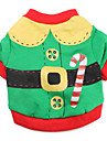 Cat Dog Costume Shirt / T-Shirt Dog Clothes Breathable Cute Cosplay Color Block Red Green Costume For Pets