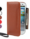 Housse en cuir PU avec Porte-monnaie et Slot carte pour Samsung Galaxy I9300 S3 (couleurs assorties)