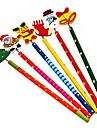 Рождество канцелярские Красочный деревянный карандаш (Random Color)