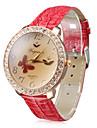 Mulheres Quartz Banda Vintage Vermelho marca-
