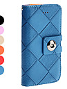 Lattice Pattern PU Leather Case with Card Slot for iPhone 5/5S (Assorted Colors)
