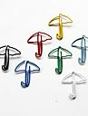 우산 스타일의 화려한 종이 클립 (임의의 색상, 10 팩)