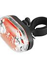 9-LED 7-mode luce rossa della coda shockproof impermeabile della bicicletta di sicurezza (2xAAA)