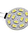 1.5w g4 led spotlight 12 smd 5730 200lm натуральный белый 6000k dc 12v