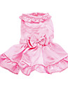 Dog Dress Dog Clothes Wedding Solid Pink Costume For Pets