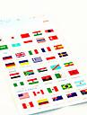 ευφυή εθνική σημαία pasttern αυτοκόλλητο