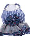 Chien Robe Vetements pour Chien A pois Bleu Costume Pour les animaux domestiques