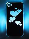 LED Portable Hard Case modèle de coeur en Flash pour iPhone 4/4S (couleurs assorties)