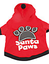 Dog Hoodie Dog Clothes Breathable Letter & Number Black Red Costume For Pets