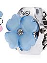 Mujer Reloj de Anillo Japones Cuarzo Plata Reloj Casual damas Flor Dibujos - Blanco Azul Rosa Un ano Vida de la Bateria / SSUO SR626SW