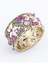 Alloy Zircon Hollow-out Chrysanthemum Pattern Ring(Assorted Colors)