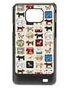 Dog Padrão Hard Case para Samsung I9100 Galaxy S2