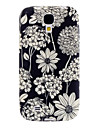 Exquisite Flower Pattern Soft Case para Samsung i9500 Galaxy S4