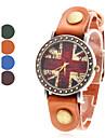Damska Union Jack Style Leather Analog Quartz Wrist Watch (różne kolory)