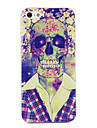 PC Skull in Suit Pattern Hard Case for iPhone 5/5S
