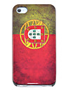cas dur de modèle de drapeau du portugal cru pour l'iphone 4/4s