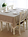 Linen Rectangular Square Table Cloth Solid Colored Eco-friendly Table Decorations