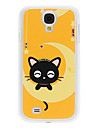 Smiled Little Kitten Pattern Hard Case with Rhinestone for Samsung Galaxy S4 I9500